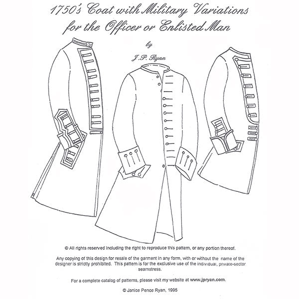 JP Ryan 1750's Coat Pattern