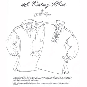 JP Ryan 18th Century Shirt Pattern