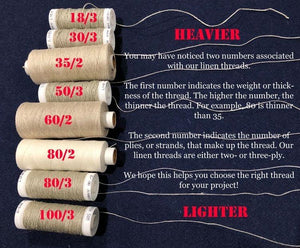80/3 Linen Thread - Large Spool