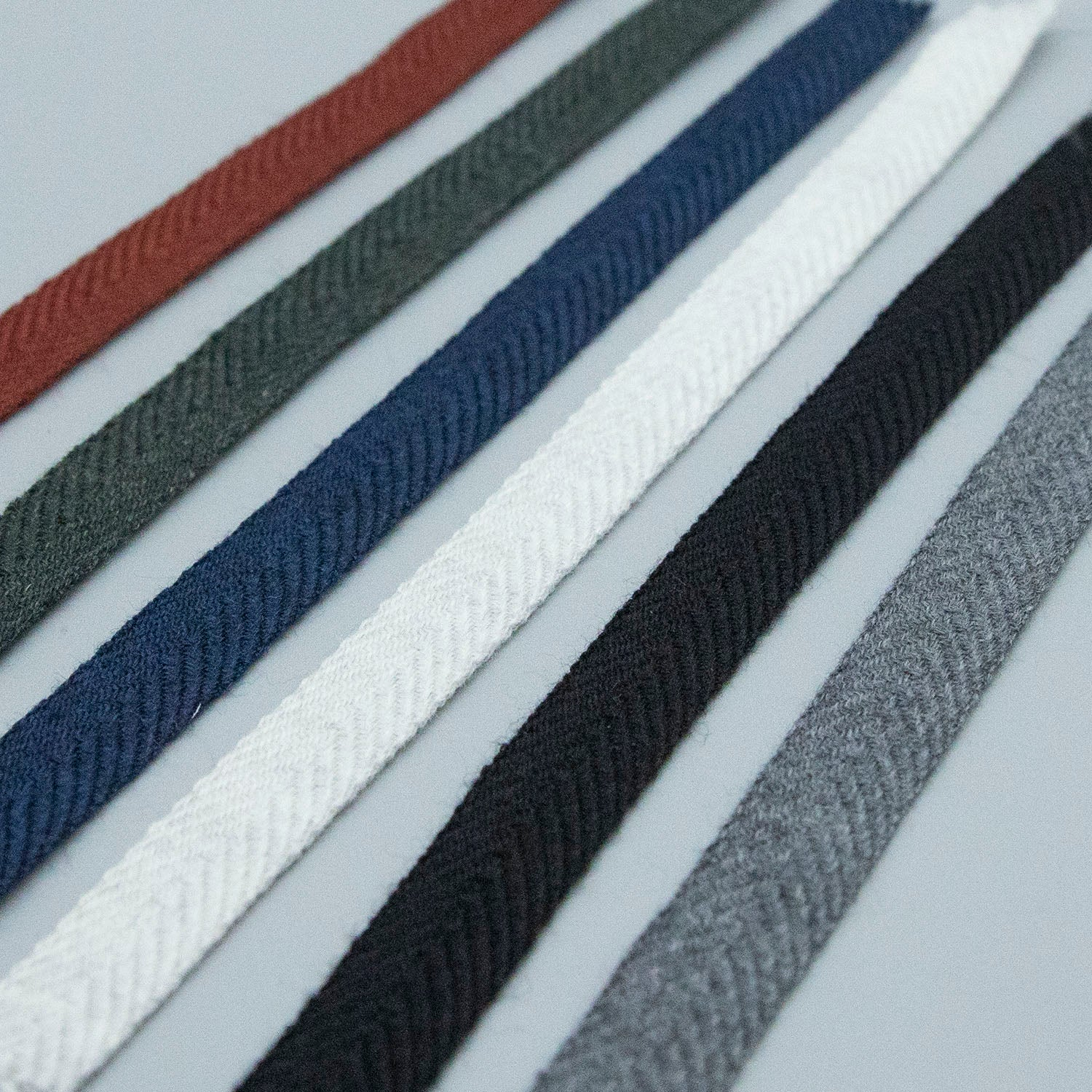 Wool Twill Tape in Various Colors - sold by the yard