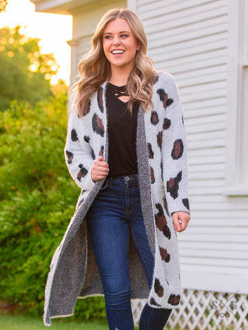 The Snow Leopard Cardigan