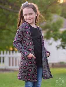 Girls Pink Panther Cardigan
