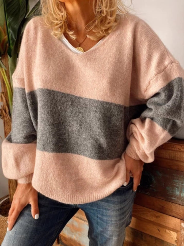 Casual Plus Size Long Sleeve Sweater