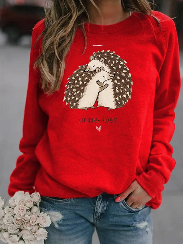 Hedgehogs Print Sweatshirt