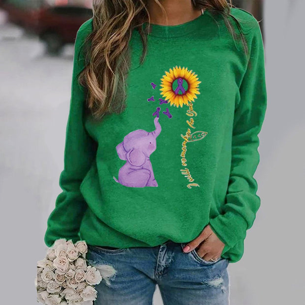 Sunflower and Elephant Sweatshirt