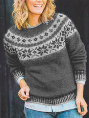 Casual Crew Neck Knitted Shirts & Tops