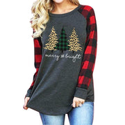 Three Christmas Tree Pattern Cotton Shirt