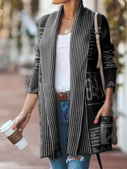 Long Sleeve Casual Knitted Outerwear