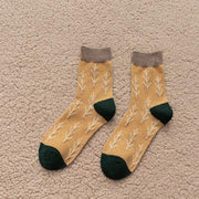 Womens Warm Wool Socks Thick Knit - Christmas Tree