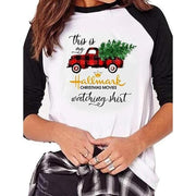 Christmas Tree Car Pattern 3/4 Sleeve Shirt