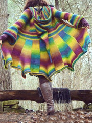 Multicolor Long Sleeve Outerwear