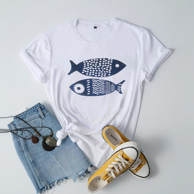 Fish gray short sleeve