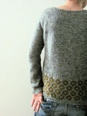 Gray Knitted Long Sleeve Shift Sweater