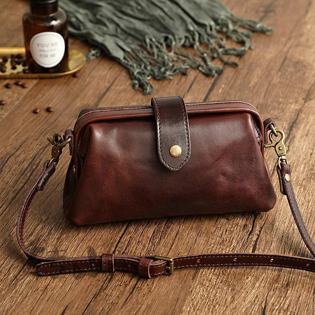 【50% OFF】remium leather Retro Handmade Bag
