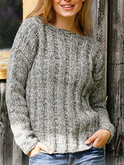 Gray Holiday Knitted Sweater