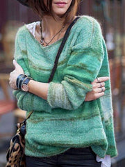 Casual Long Sleeve Knitted Sweater