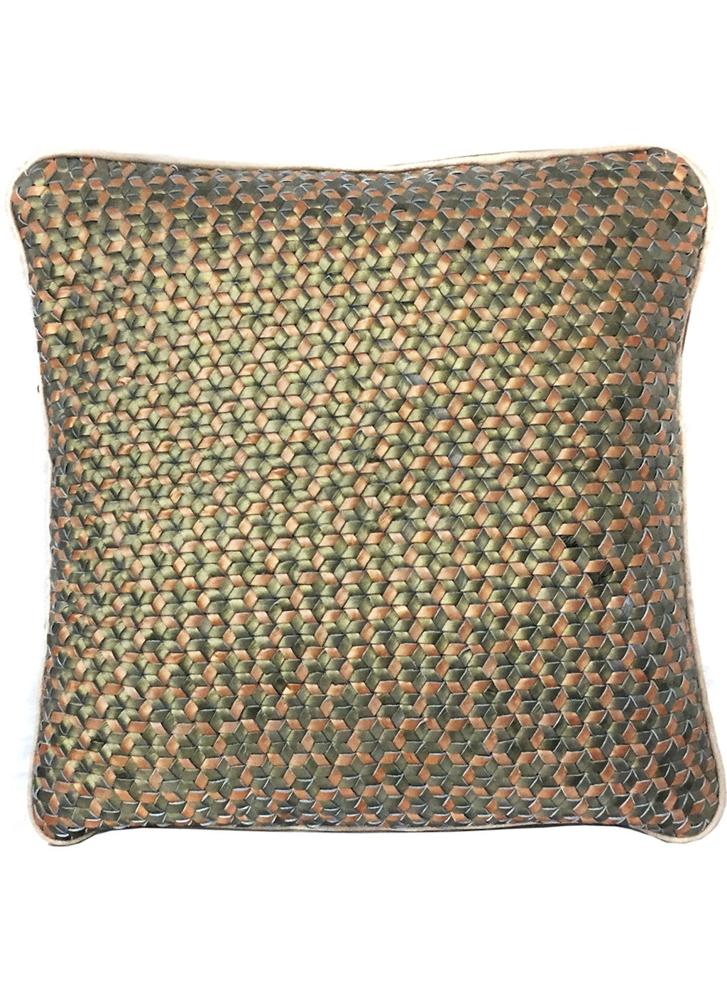 Linda Woven  Leather cushion cover