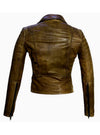 Women Leather Biker Jacket , Women Jacket - CrabRocks, LeatherfashionOnline  - 5