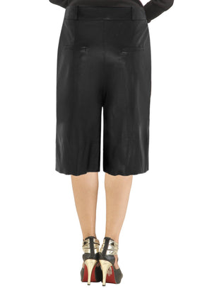 Women Culottes Leather Skirt , Women Leather Skirt - CrabRocks, LeatherfashionOnline  - 2