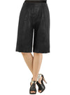 Women Culottes Leather Skirt S / Leather / Black, Women Leather Skirt - CrabRocks, LeatherfashionOnline  - 1