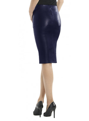 Leather Women Knee Length Fitted Skirt-- Hot Seller , Women Leather Skirt - CrabRocks, LeatherfashionOnline  - 2