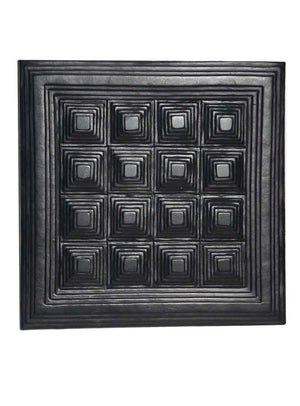 Leather Designer Pyramid Decorative Wall Tiles Black, Leather Tiles - CrabRocks, LeatherfashionOnline  - 1