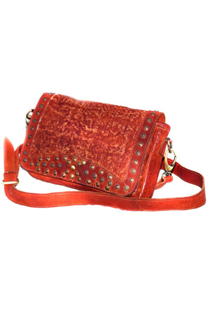Women Leather Across Body Bonded Textured Bag with Stud