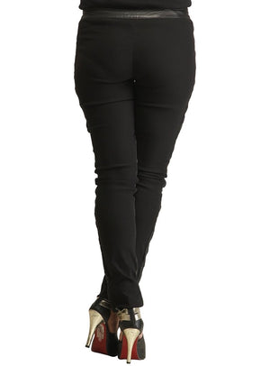Designer Leather Leggings W/ Strechable Quilting