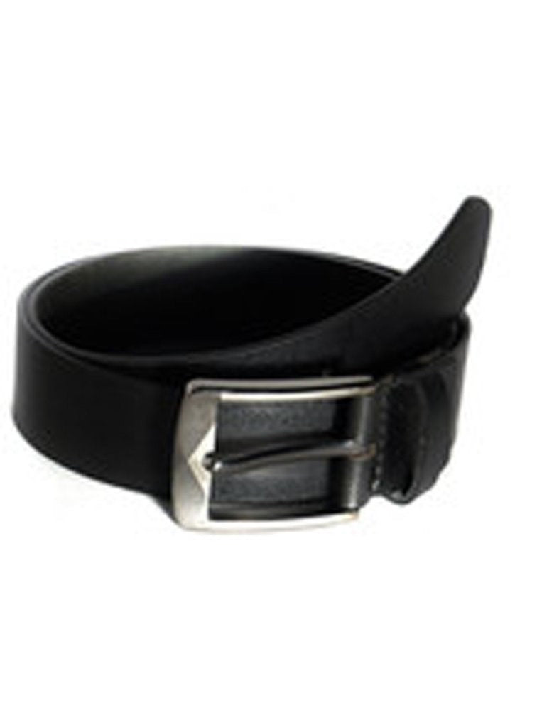 Men Casual Black Leather Belt