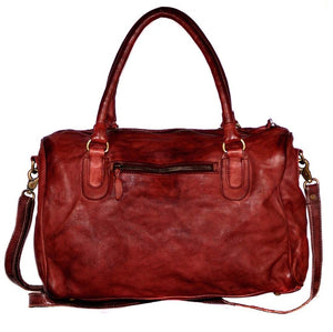 VannaModa Antonio Women Leather Scalled Duffel Bag With Dip Dyed