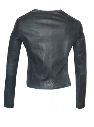 Leather Handcrafted Designer Embroidered Classic Women Jacket