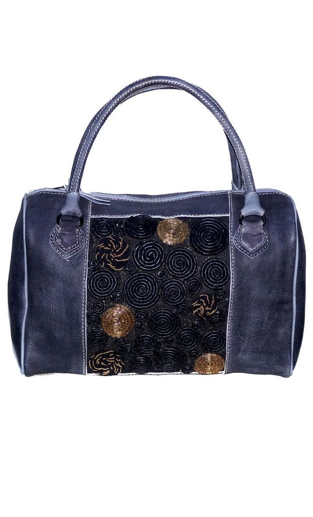 Unique Embroidered Duffel Bag- Galaxy Pattern