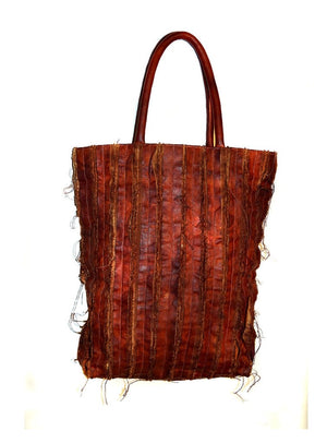 Leather Vintage Washed Tote Bag