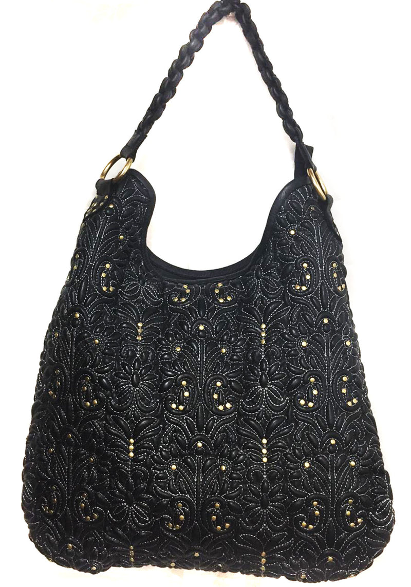Melbourne Leather Embroidered Woman Hobo Bags