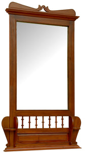 Colonial Teak Wood Wall Mirror