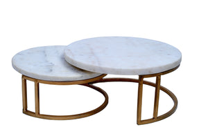 Two Piece Marble Top Cake Stand