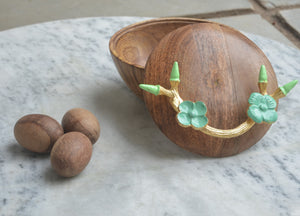 Bowl with Turquoise Flowers
