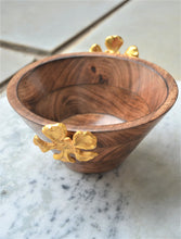 Load image into Gallery viewer, Bowl with Golden Flower Handles
