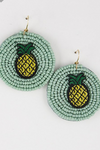 Pineapple Beaded Earrings