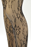 Floral Fishnet Stockings