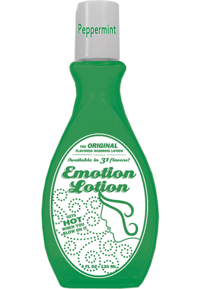 Emotion Lotion Flavored Water Based Warming Lotion Peppermint 4 Ounce