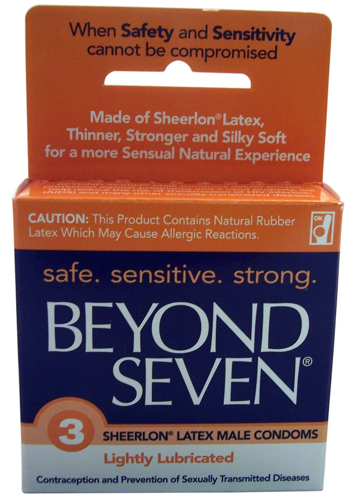 Beyond Seven Condom Lightly Lubricated 3 Pack