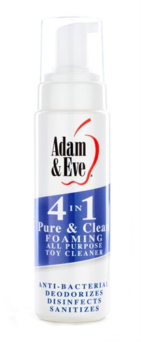 Adam and Eve 4 in 1 Pure and Clean Foaming Toy  Cleaner 8 Oz