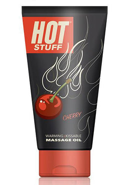 Hot Stuff Edible Warming Water Based Massage Oil Cherry 6 Ounce
