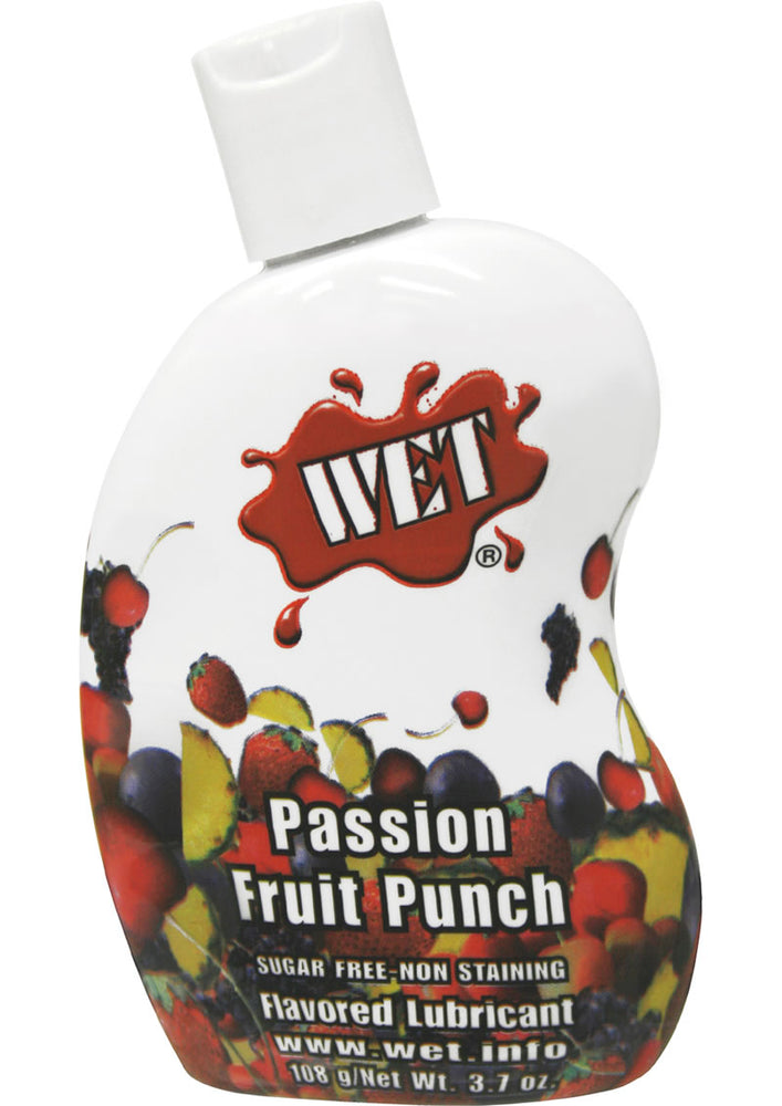 Wet Flavored Water Based Lubricant Passion Fruit Punch 3.7 Ounce