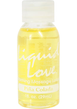 Liquid Love Warming Massage Lotion 1 Ounce Pina Colada 1 Ounce