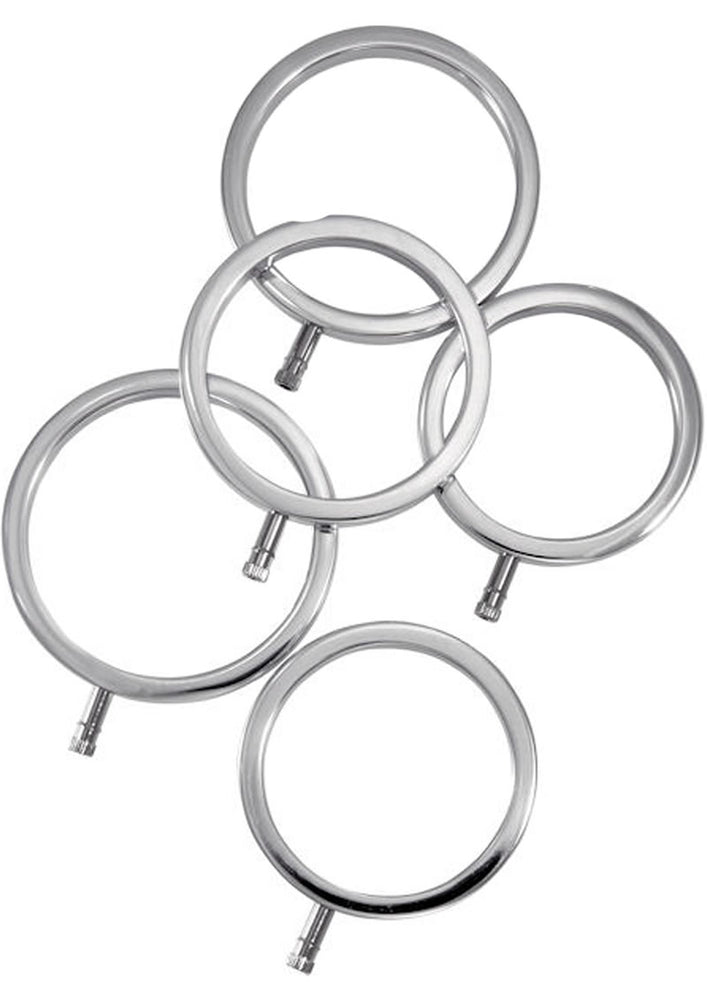 Electrastim ElectraRings Electro-Sex Cock Rings 5 Pack Multiple Sizes