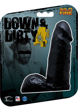 Wildfire Down And Dirty 4.75 Inch Dong Waterproof Black