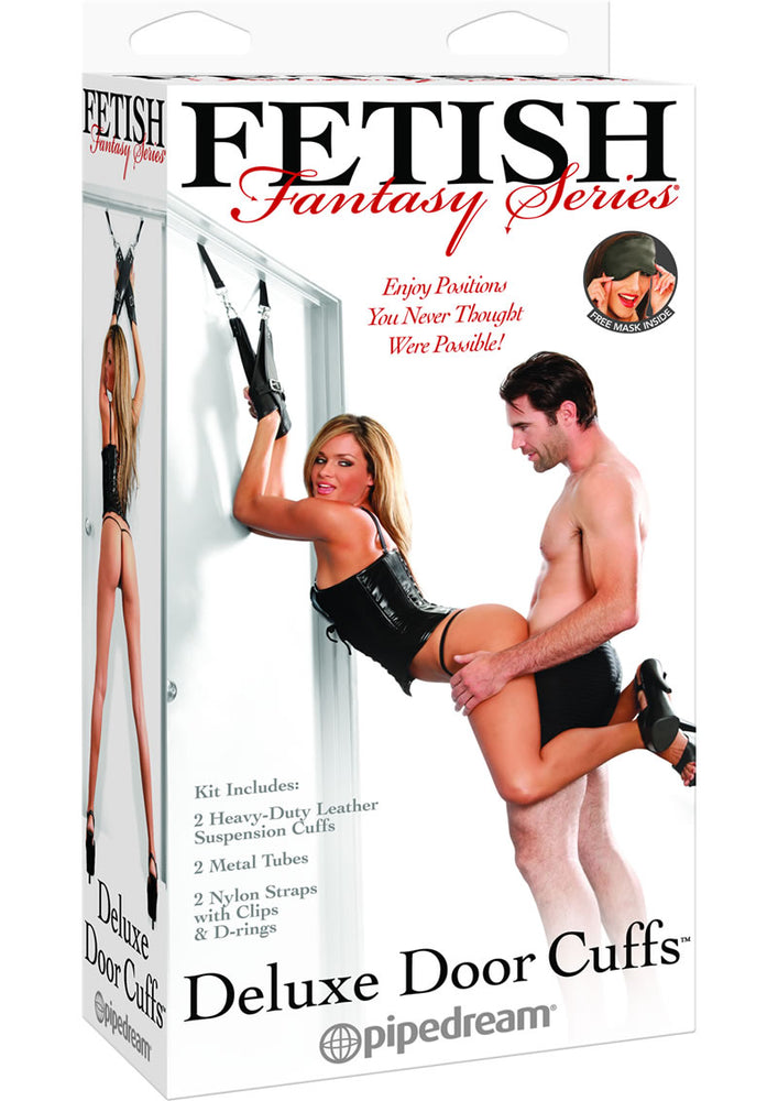 Fetish Fantasy Series Deluxe Door Cuffs Black