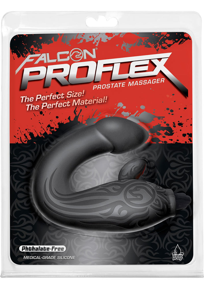 Falcon Proflex Vibrating Silicone Prostate Massager Waterproof Grey